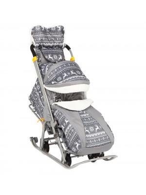 """Складные санки-коляска Snow Galaxy-1 Luxe """"Финская ночь"""""""