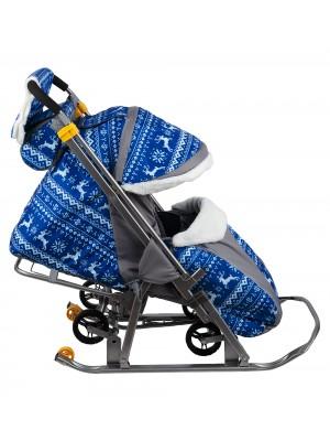 Складные санки- коляска SNOW GALAXY-1 LUXE (Зимняя ночь)